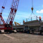 Setting precast girders