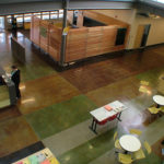 2006 Firstenburg Center Entryway, stained concrete, polished concrete,
