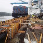 Panamax crane rail foundation