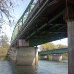 Under bridge scaffolds