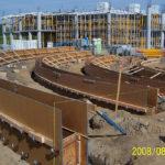 Concordia University Amphitheater, radius walls, architectural, multi story concrete podium
