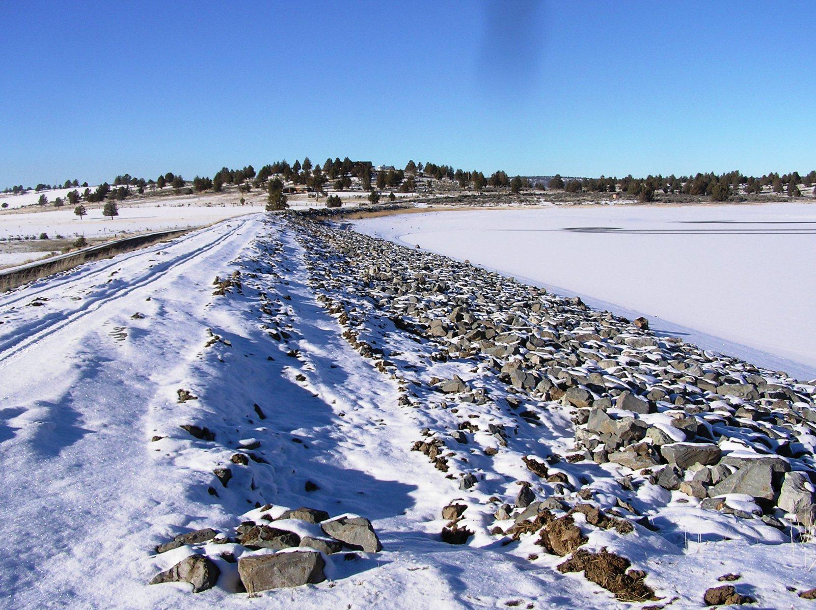Dorris Dam riprap