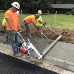 Evolution pervious fine grane concrete sidewalk