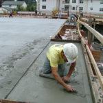 Post tension concrete, podium