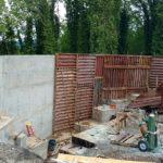 Radius gang efco concrete retaining wall form