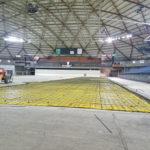 Tacoma dome interior slab on grade remove and replace, concrete